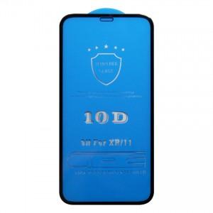 Miếng dán kính cường lực iPhone 11 10D Full màn hình (Đen)