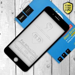 Miếng dán cường lực iPhone 7 Plus loại 5D hiệu HOCO Full (Đen)