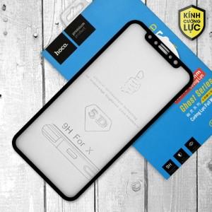 Miếng dán cường lực iPhone X loại 5D hiệu HOCO Full (Đen)