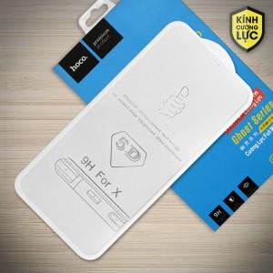 Miếng dán cường lực iPhone X loại 5D hiệu HOCO Full (Trắng)