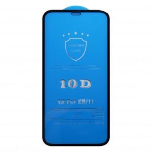 Miếng dán kính cường lực iPhone XR 10D Full màn hình (Đen)