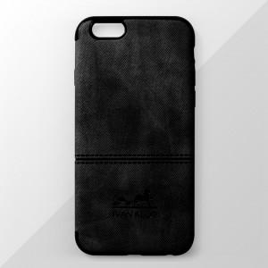 Ốp lưng iPhone 6 Plus / 6S Plus vân vải bố Ivan Klot (Đen)