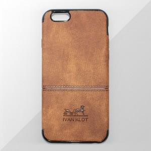 Ốp lưng iPhone 6 Plus / 6S Plus vân vải bố Ivan Klot (Vàng)