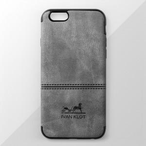 Ốp lưng iPhone 6 Plus / 6S Plus vân vải bố Ivan Klot (Xám)