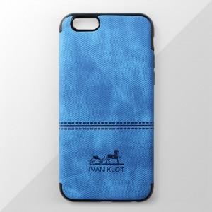 Ốp lưng iPhone 6 Plus / 6S Plus vân vải bố Ivan Klot (Xanh)
