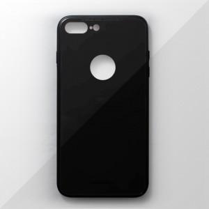 Ốp lưng iPhone 8 Plus tráng gương viền dẻo (Đen)