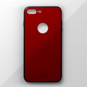 Ốp lưng iPhone 8 Plus tráng gương viền dẻo (Đỏ)