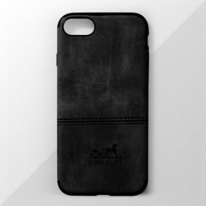 Ốp lưng iPhone 7 vân vải bố Ivan Klot (Đen)