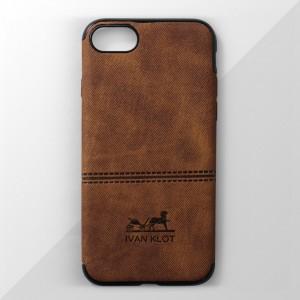 Ốp lưng iPhone 7 vân vải bố Ivan Klot (Vàng)