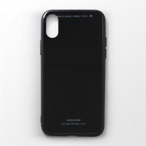 Ốp lưng  iPhone X tráng gương viền dẻo (Đen)