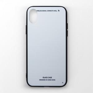 Ốp lưng  iPhone X tráng gương viền dẻo (Trắng)