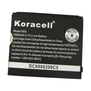 Pin HTC HD2 (CS-HT8585SL) - 1300mAh hiệu Koracell