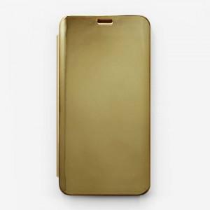 Bao da Honor 8X Clear View tráng gương (Vàng)