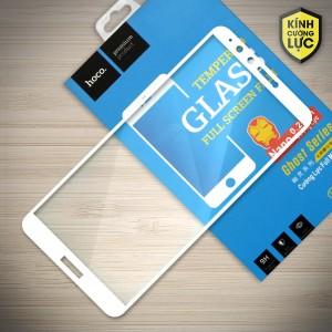 Miếng dán cường lực Huawei Honor 8 Plus hiệu HOCO Full màn hình (Trắng)
