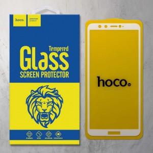 Miếng dán cường lực Huawei Honor 9 Lite hiệu HOCO Full màn hình (Trắng)