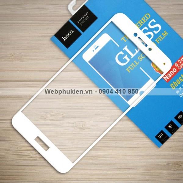 Miếng dán cường lực Huawei P8 Lite 2017 hiệu HOCO Full màn hình (Trắng)