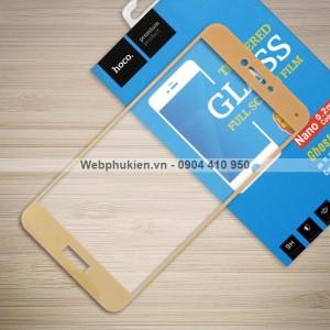 Miếng dán cường lực Huawei P8 Lite 2017 hiệu Nillkin Full màn hình (Vàng)