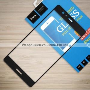 Miếng dán cường lực Huawei P9 Lite hiệu HOCO Full màn hình (Đen)