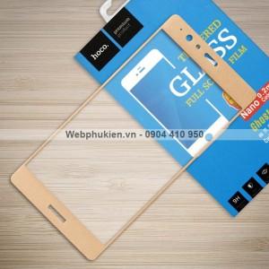 Miếng dán cường lực Huawei P9 Lite hiệu HOCO Full màn hình (Vàng)