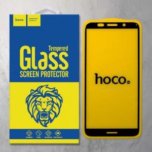 Miếng dán cường lực Huawei Y5 2018 hiệu HOCO Full Keo (Đen)