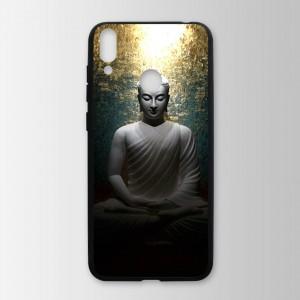 Ốp lưng kính in hình tượng phật cho Huawei Honor 8C (mẫu 20) - Hàng chính hãng
