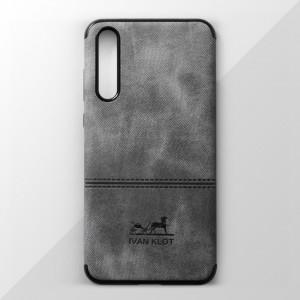 Ốp lưng Huawei P20 Pro vân vải bố Ivan Klot (Xám)