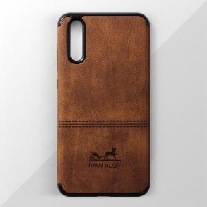 Ốp lưng Huawei P20 vân vải bố Ivan Klot (Vàng)