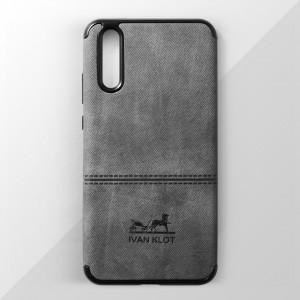 Ốp lưng Huawei P20 vân vải bố Ivan Klot (Xám)