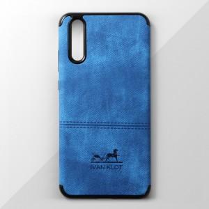 Ốp lưng Huawei P20 vân vải bố Ivan Klot (Xanh)
