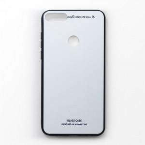 Ốp lưng Huawei Y6 2018 tráng gương viền dẻo (Trắng)