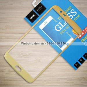 Miếng dán cường lực LG K10 2016 hiệu HOCO Full màn hình (Vàng)