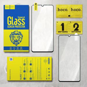 Miếng dán kính cường lực LG V50s Full hiệu Hoco (Đen)