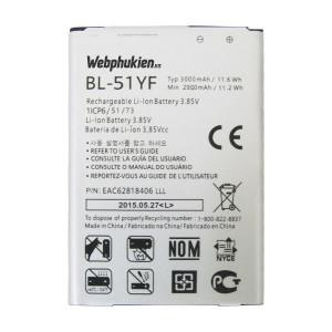 Pin LG G4/ H815/ F500/ LS991/ G4 isai (BL-51YF) - 3000mAh Original Battery