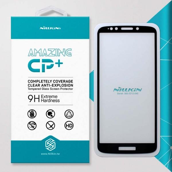 Miếng dán cường lực Motorola Moto E5 hiệu Nillkin Full Keo (Đen)