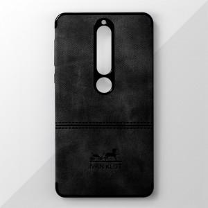 Ốp lưng Nokia 6 2018 vân vải bố Ivan Klot (Đen)