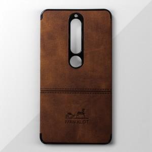 Ốp lưng Nokia 6 2018 vân vải bố Ivan Klot (Vàng)