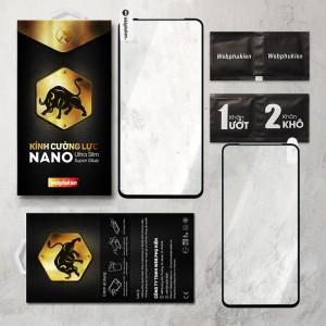 Miếng dán cường lực Oppo Reno 2 hiệu Web Phụ Kiện Full viền (Đen)
