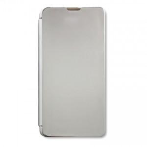 Bao da Samsung Galaxy A10S Clear View tráng gương (Bạc)