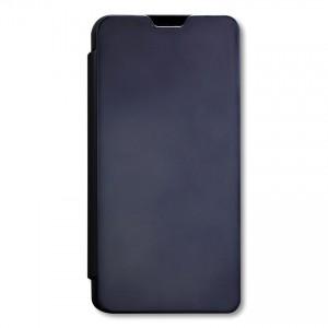 Bao da Samsung Galaxy A20S Clear View tráng gương (Đen)