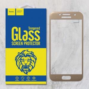 Miếng dán cường lực Samsung Galaxy A3 2017 hiệu HOCO Full màn hình (Vàng)