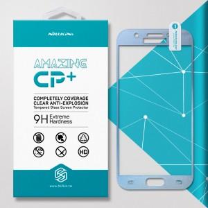 Miếng dán cường lực Samsung Galaxy A5 2017 hiệu Nillkin Full (Xanh)