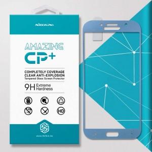 Miếng dán cường lực Samsung Galaxy A7 2017 hiệu Nillkin Full (Xanh)