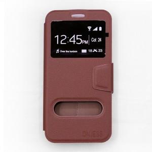 Bao da Samsung Galaxy A7 2017 hiệu OnJess (Nâu) - Case dẻo