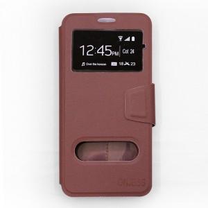 Bao da Samsung Galaxy A8 Plus 2018 hiệu OnJess (Nâu) - Case dẻo