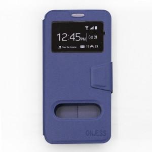 Bao da Samsung Galaxy A8 Plus 2018 hiệu OnJess (Xanh) - Case dẻo