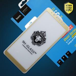 Miếng dán cường lực Samsung Galaxy A8 Plus hiệu HOCO Full màn hình (Vàng)
