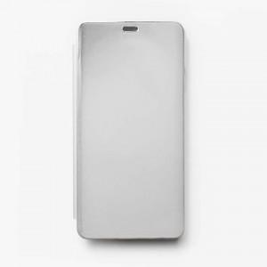 Bao da Samsung Galaxy A8 Star Clear View tráng gương (Bạc)