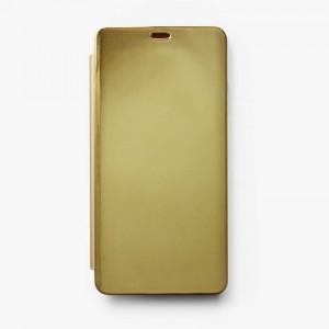 Bao da Samsung Galaxy A8 Star Clear View tráng gương (Vàng)