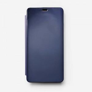 Bao da Samsung Galaxy A8 Star Clear View tráng gương (Xanh Navy)