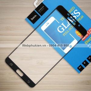 Miếng dán cường lực Samsung Galaxy A9 Pro hiệu HOCO Full (Đen)